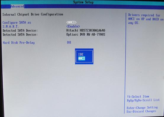 how to change ahci to ata in bios