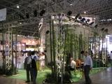 ブース裏の竹藪